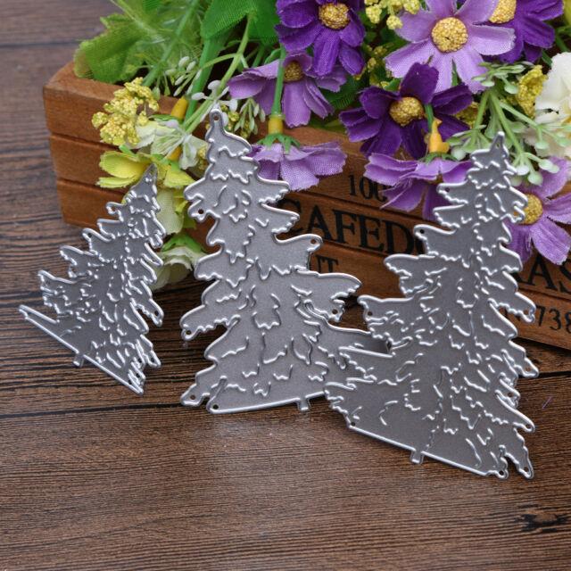 3pcs Christmas Tree Metal Die cutting DIY Scrapbooking Embossing Stencil Decor