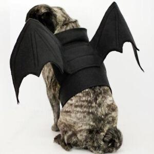 Bat-Wings-Vampire-Black-Cute-Fancy-Dress-Up-Halloween-Pet-Dog-Cat-Costume-New