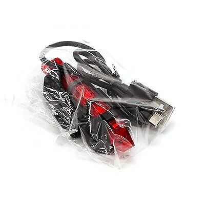 LED USB Rechargeable Bike Tail Light Bicycle MTB Cycling Warning Rear Lamp