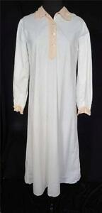 RARE-1930-039-S-1940-039-S-FRENCH-LONG-WHITE-COTTON-WOMAN-039-S-NIGHTSHIRT-SIZE-MEDIUM