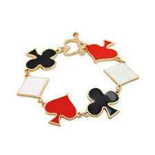 B168 BETSEY JOHNSON Poker Card Game Suits Heart Spades Hearts Clubs Bracelet  US