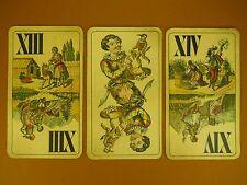 *3 ANTIQUE FERD. PIATNIK & SON TAROT CARDS * WIEN*