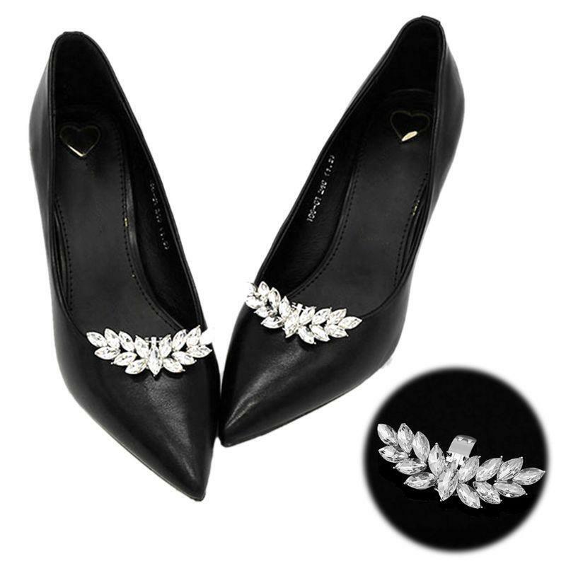 High Heels Shoe Clip Rhinestone Wings DIY Charms Women Wedding Buckle