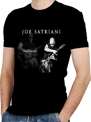 JOE SATRIANI GUITAR  Black New T-shirt Rock T-shirt Rock Band Shirt Rock Tee