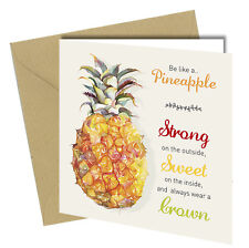 742 BIRTHDAY Or VALENTINE GREETING CARD Like A Pineapple Rude Funny Joke Humour