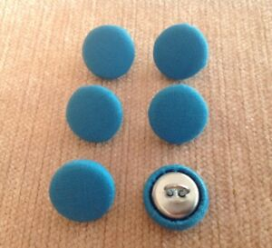 Kingfisher Blue 24l/15mm Fabric Covered Buttons Craft Sewing Upholstery  </span>