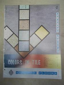 Kentile Floors Catalog~Vinyl-Asbestos Floor Tile/ Flooring~1961 | eBay