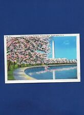 VINTAGE POSTCARD JAPANESE CHERRY BLOSSOMS POTOMAC PARK WASHINGTON DC