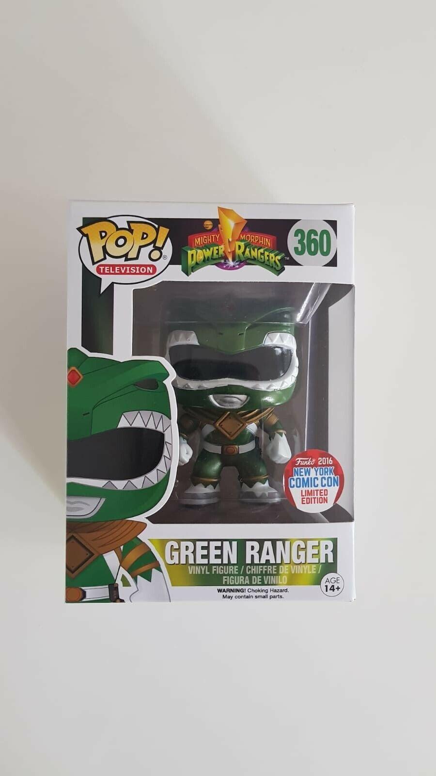 Power Rangers Green Ranger 360 (Metallic NYCC 2016) Funko Pop Vinyl
