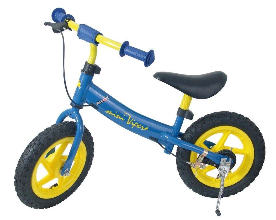 Kinderlaufrad Laufrad 12er 12r Mini Viper Lernrad Rad Bremse Blau / Gelb New