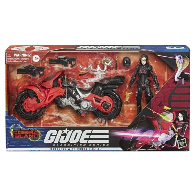 GI Joe Classified Baroness with Cobra Coil Target Exclusive Sealed MISB VHTF