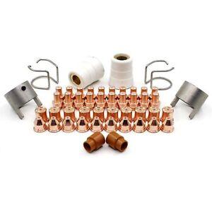 Plasma Electrode 0408-2404 Nozzle Tips 0408-2385 1.6mm fit SAF Cutter Torch Pk20