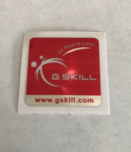 2x New G.Skill Memory Ram Original Sticker Logo Label