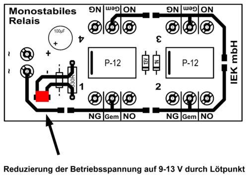 9-24 V Relaisplatine Relaiskarte monostabiles Relais 4 x UM Relais monostabil