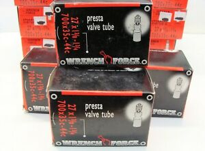"""~ 4 New Wrench Force 700 x 35-44c (29"""") Bicycle Inner Tubes 35mm Presta Valve ~"""