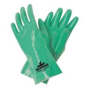 "Mcr Safety 9782S 12"" Chemical Resistant Gloves, Nitrile, S, 12Pk"