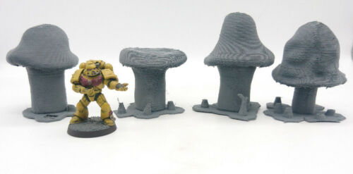 Terrain Moonclan 40K Warhammer SCENERY 28-32mm mushrooms Malifaux AoS