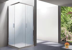 Box cabina doccia color acciaio acquamarina mm vetro cristallo