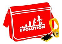 Lego Evolution Messenger Bag Red Word Fun Retro Funny Gift - T Shirt In Shop
