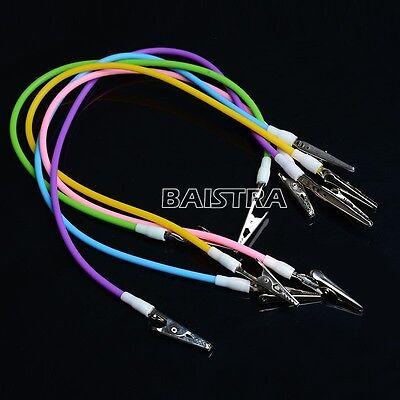 sale ! 5Pc Dental  Silicone Instrument Colorful Bib Clips Cord Napkin holders
