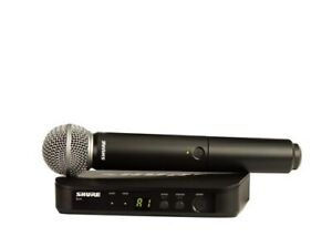 Shure-BLX24-SM58-Single-Channel-Handheld-Wireless-System-J10-Band