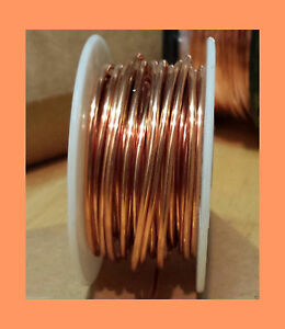Copper Wire Round 99 9 Pure Spools Gauges 14 28 Dead Soft