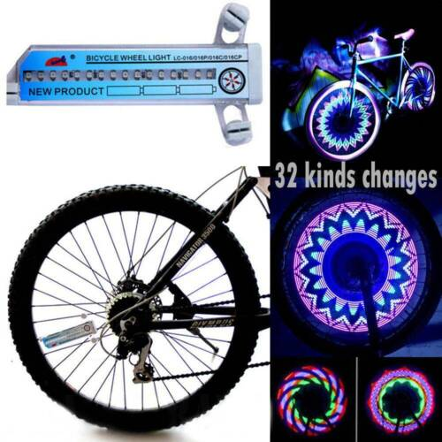32 LED Patterns Cycling Bikes Bicycles Rainbow Wheel Signal Tire Spoke Light US!