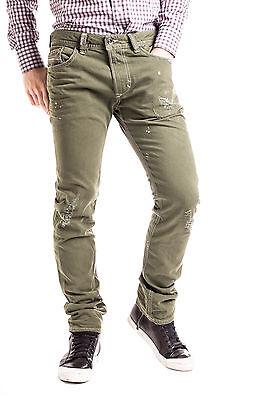 RRP €260 DIESEL W32 Men's THAVAR 0852D D.N.A. 2016 Destroyed Jeans - From POPPRI