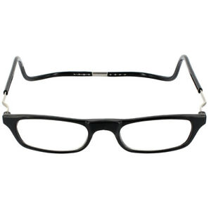 6d9f69735b CliC Magnetic XXL Reading Glasses BLACK snap click it clicker 1.25 ...