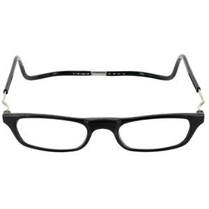 781455b5f6 CliC Magnetic XXL Reading Glasses BLACK snap click it clicker 1.25 ...