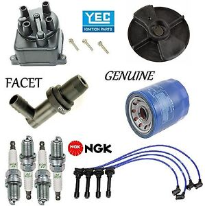 Tune Up Kit Oil Filter Cap Rotor Plugs Wire For Honda Accord L4 2 2