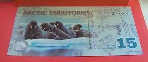 ARTIC TERRITORIES  BANK NOTE FIFTEEN DOLLAR - KENT, United Kingdom - ARTIC TERRITORIES  BANK NOTE FIFTEEN DOLLAR - KENT, United Kingdom