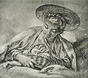 Engraving-Francois-Boucher-Collection-of-Goncourt-Ad-braun-amp-Cie-1856