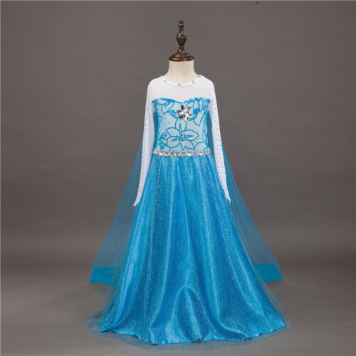 Princess Sofia Cinderella Costume Party Long Gown Dress Up for Little Girl Kids