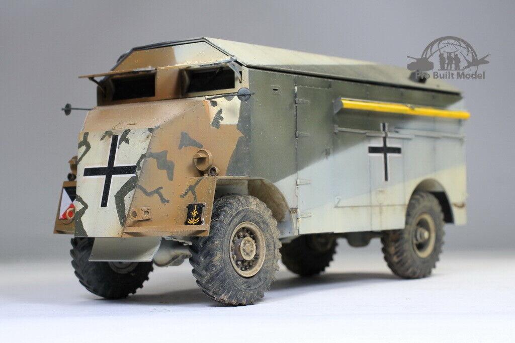 El mamut Rommel, dark, el vehículo blindado de mando AEC, todo equipado a 1  35.