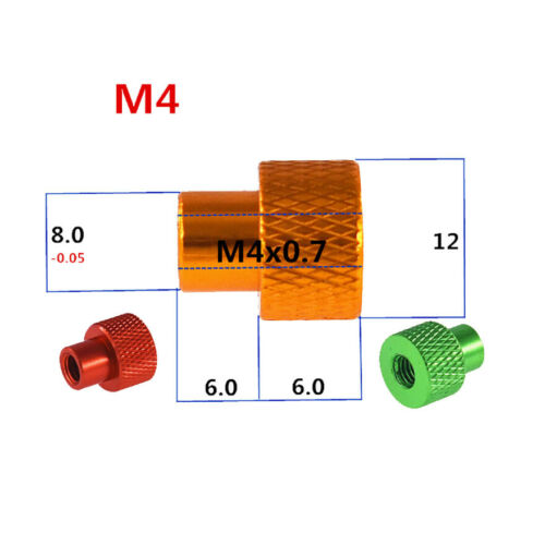 Aluminum Alloy M4 M5 Knurled Thumb Nuts Metric Fastening High Type Grip Knob