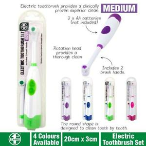 Power-Floss-Action-Electric-Rechargeable-Toothbrush-Brush-Battery-Medium-Refills