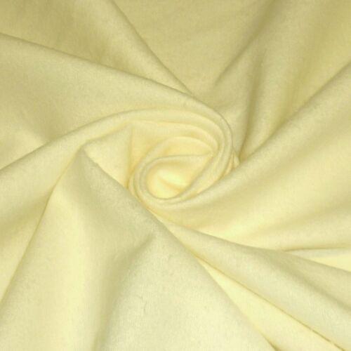 Plain Lemon 100/% Brushed Cotton Winceyette Flannelette *Per Metre