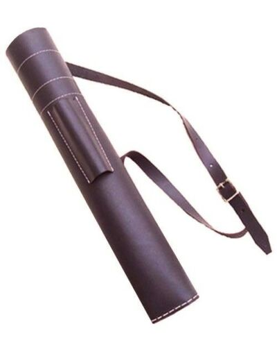 FINE LEATHER BACK ARROW QUIVER HAND MADE ARCHERY PRODUCTS AQ-102 BROWN ADULT