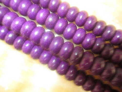 "5X8mm Violet Clair Abacus Turquoise Gemstone Loose Beads 15/"" # AY102"