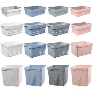 Aufbewahrungsbox Plast Team Weiss Grau Dunkelblau Rosa 5l 11l 16l 21l Korb Ebay
