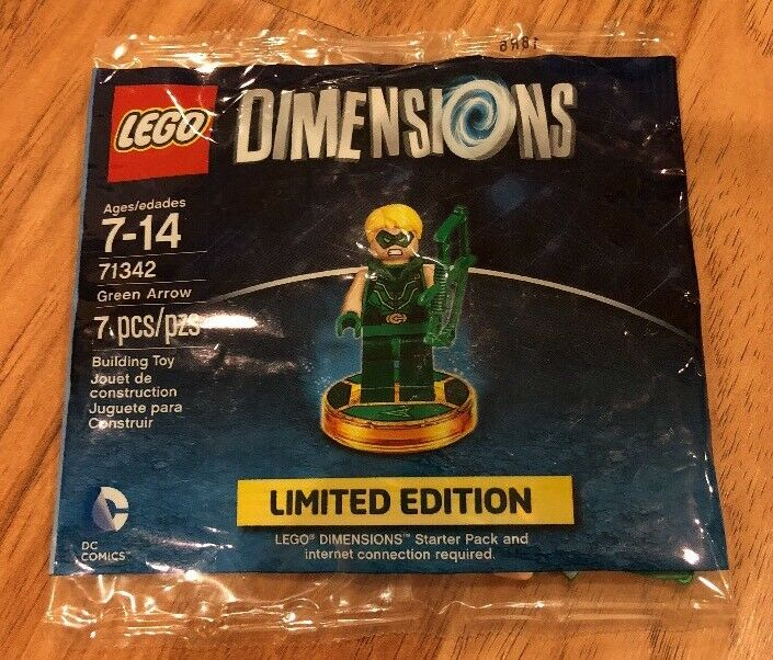 LEGO DIMENSIONS 71342 GREEN ARROW LIMITED EDITION FACTORY SEALED POLYBAG NIP