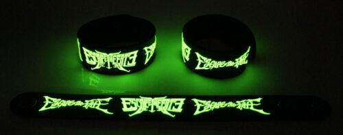Escape The Fate  Glow in the Dark Rubber Bracelet Wristband Picture Perfect