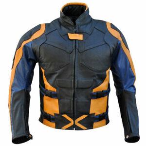 X-Man-Last-Stand-Orange-Black-Blue-Motorcycle-Racing-Cowhide-Leather-Jacket