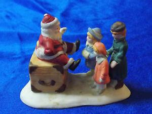 Vintage Lemax Village Collection  Porcelain Visiting Santa Claus 23042