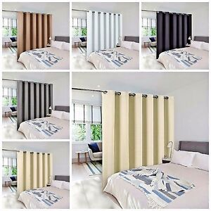Panel Curtain Room Divider Partition Screen Grommet Blackout Curtain