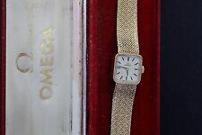 Reloj de pulsera señoras vintage Entubado Omega Oro Macizo 9CT + Pulsera