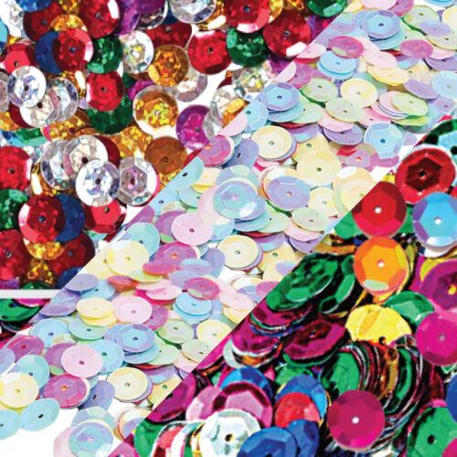 100g Mixed color 10mm CUP round loose sequins paillettes-Hologram//Rainbow//Matte