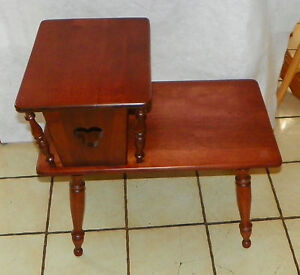 Mid Century Cherry Step End Table Side Table By Ethan