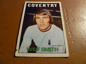 A-BC-Chewing-Gum-Football-Card-1972-73-Red-Orange-Back-Wilf-Smith-Coventry-City